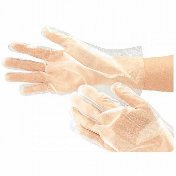 ポリエチレン製使いきり手袋画像